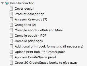 Scrivener book launch - post-production checklist